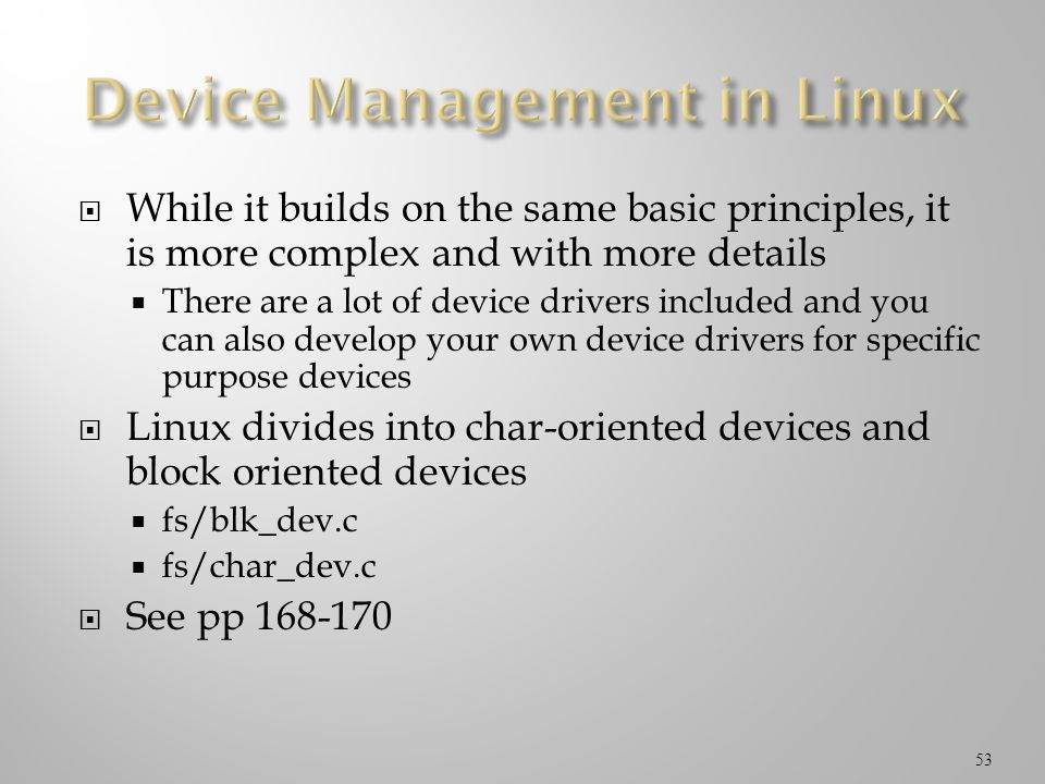 Device Management in Linux