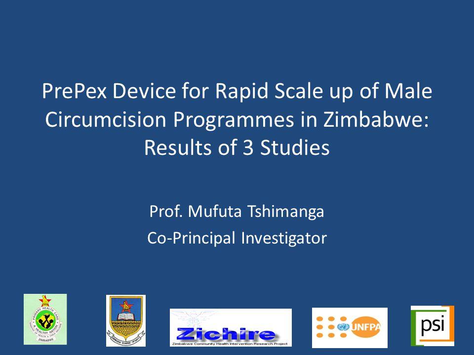 Prof. Mufuta Tshimanga Co-Principal Investigator