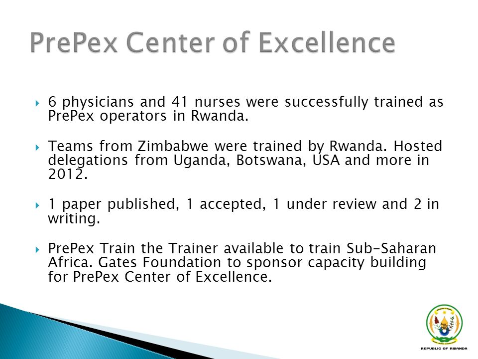 PrePex Center of Excellence