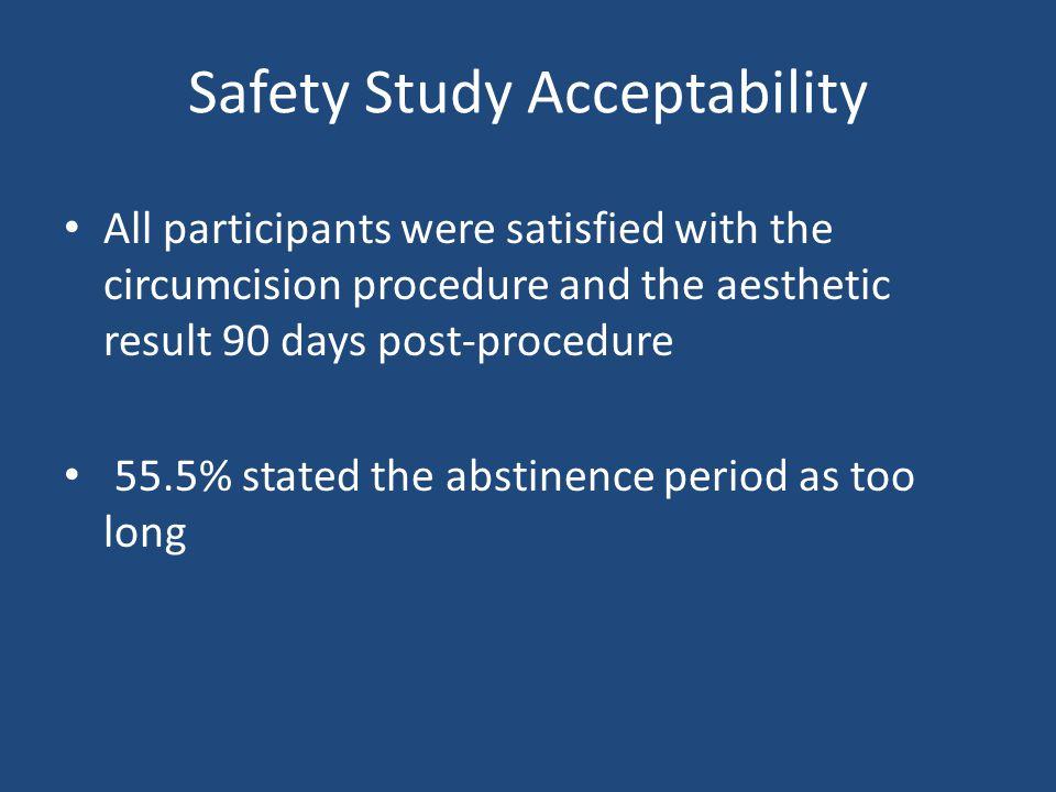 Safety Study Acceptability