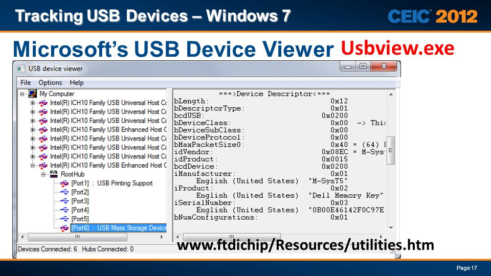 Microsoft's USB Device Viewer