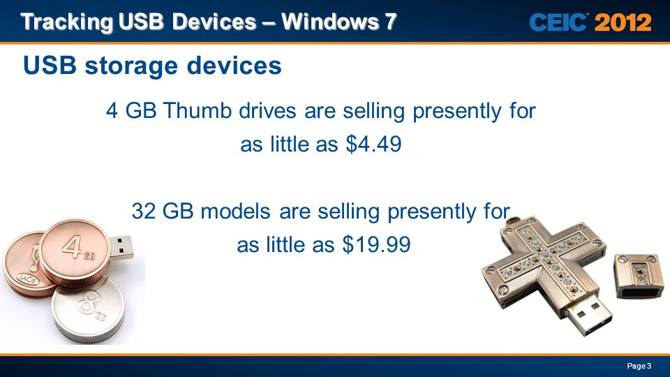 USB storage devices Tracking USB Devices – Windows 7