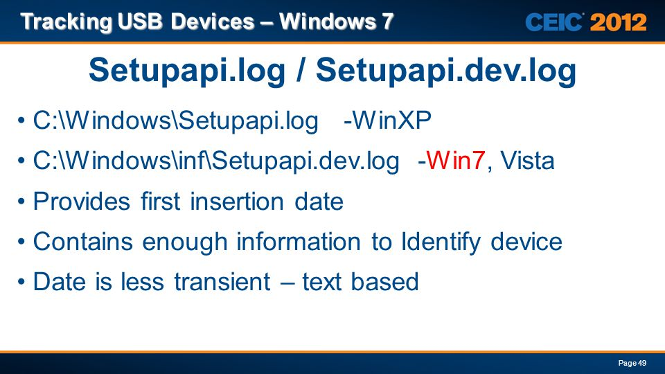 Setupapi.log / Setupapi.dev.log