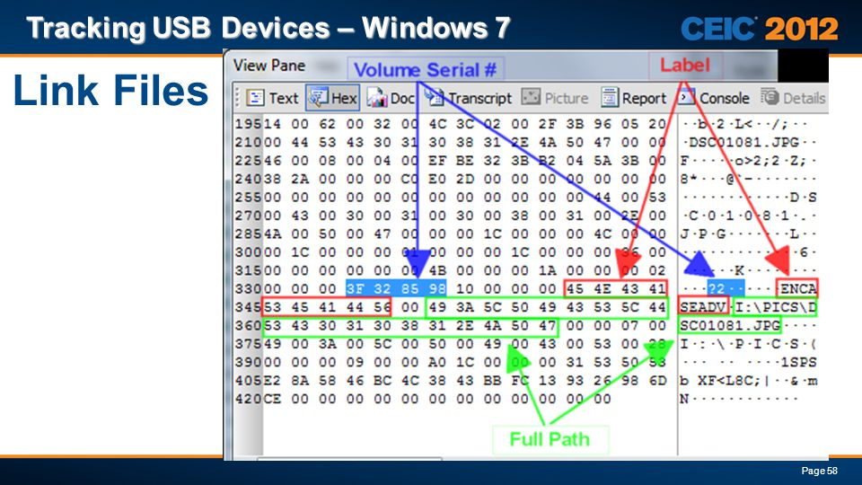 Link Files Tracking USB Devices – Windows 7