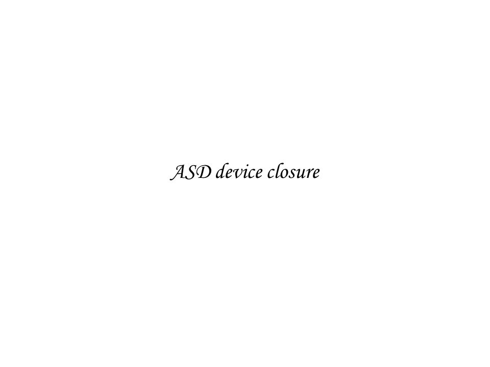 ASD device closure
