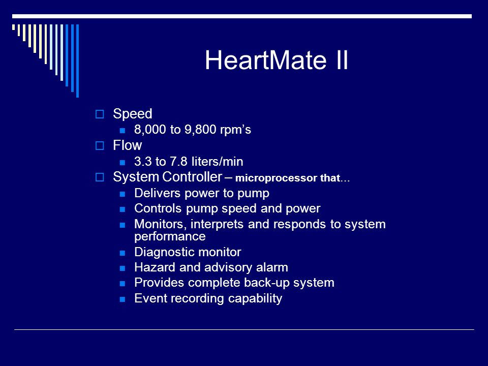 HeartMate II Speed Flow System Controller – microprocessor that…