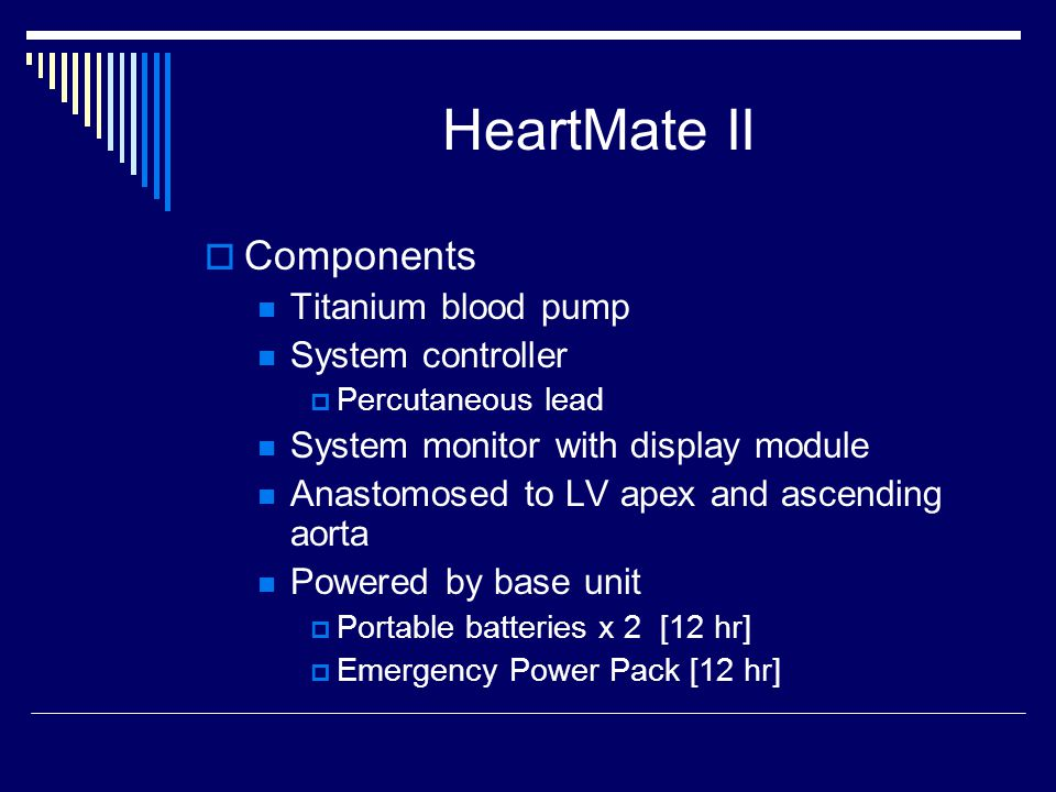 HeartMate II Components Titanium blood pump System controller