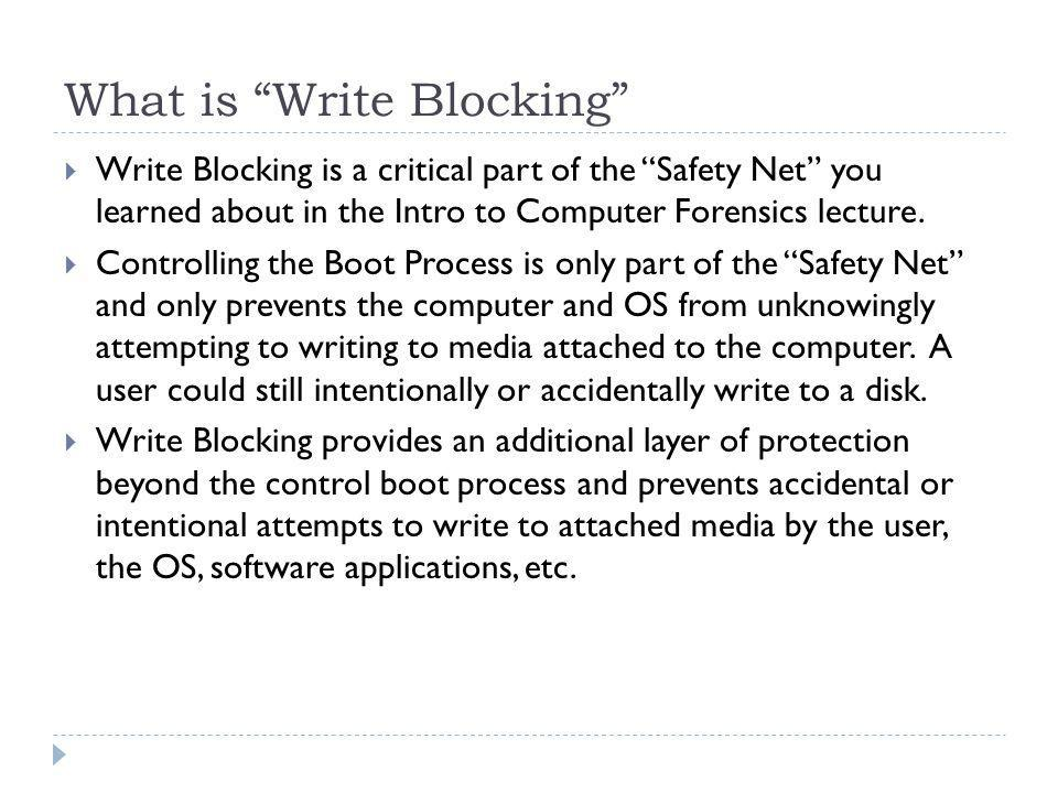 What is Write Blocking