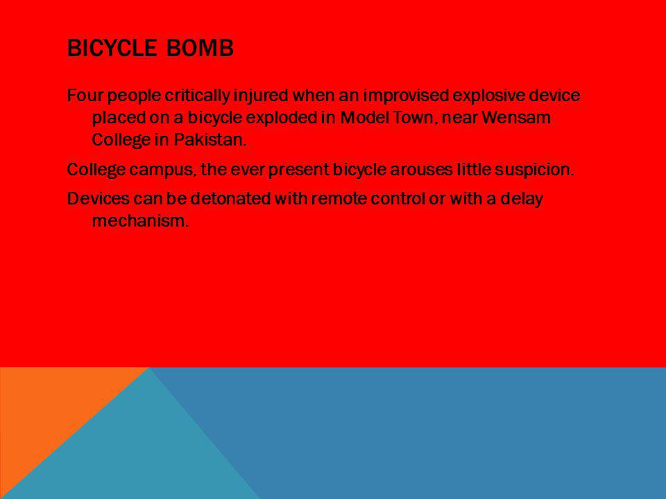 Bicycle Bomb