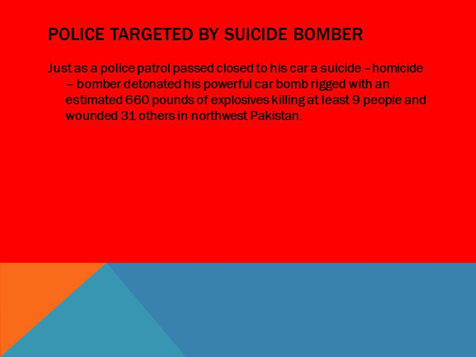 Police targeted by suicide bomber
