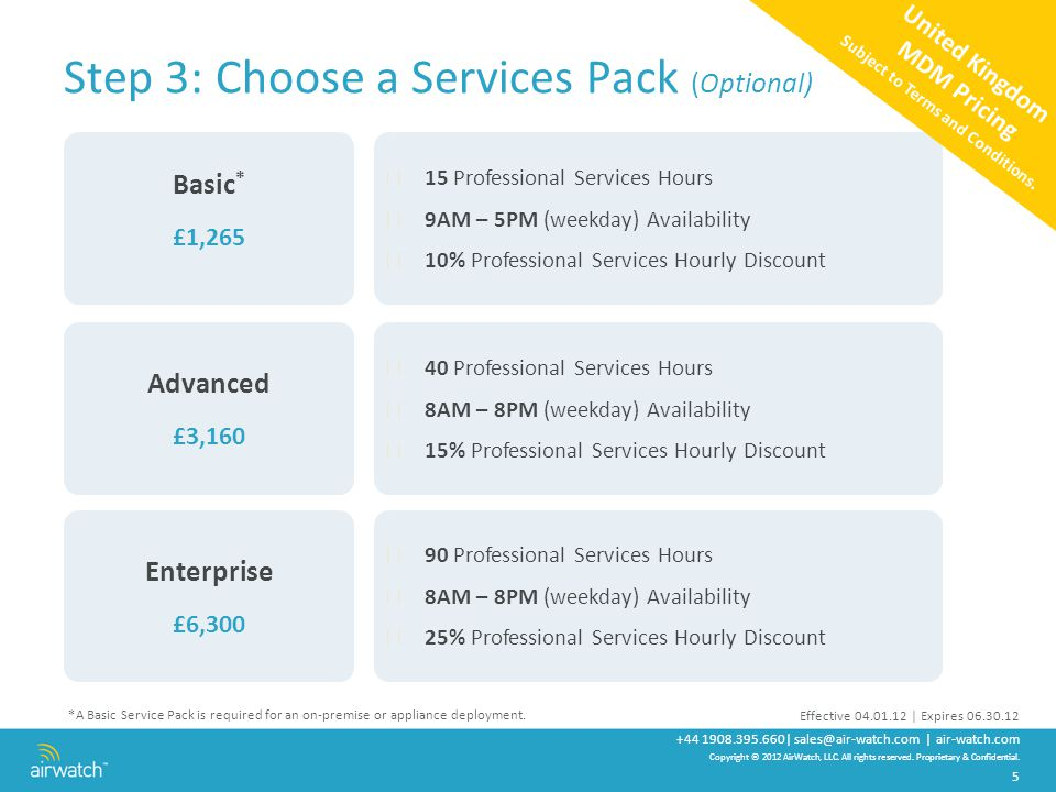 Step 3: Choose a Services Pack (Optional)