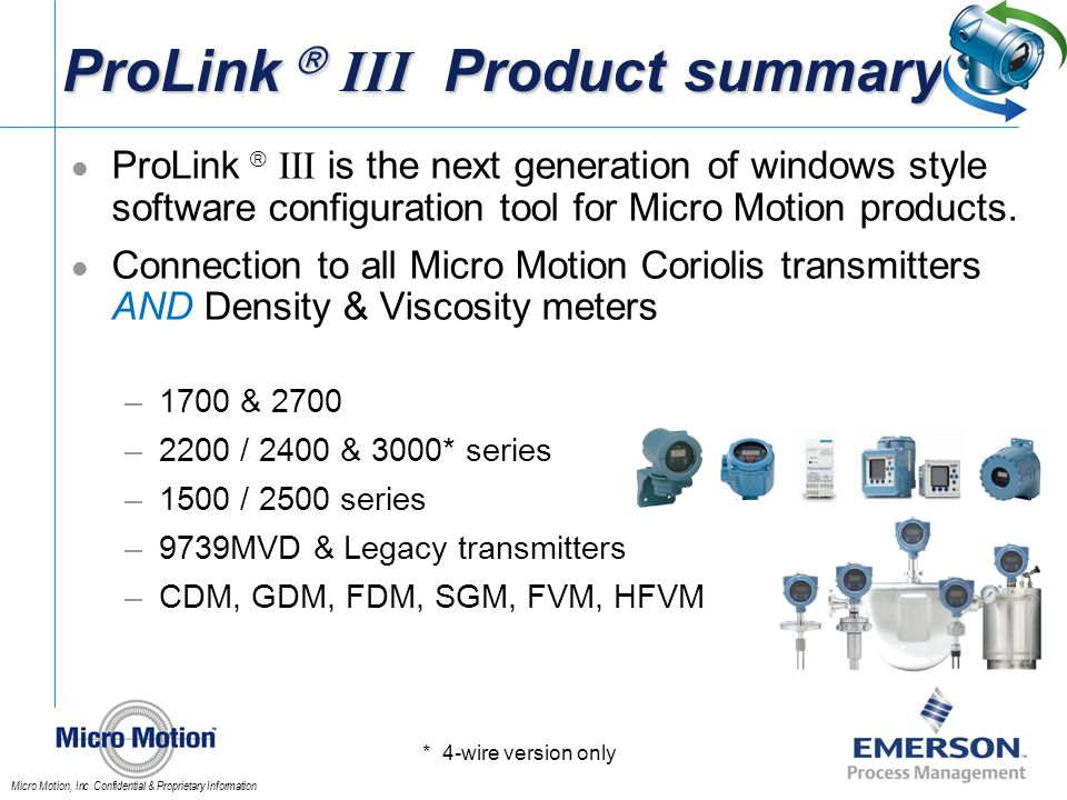 ProLink  III Product summary