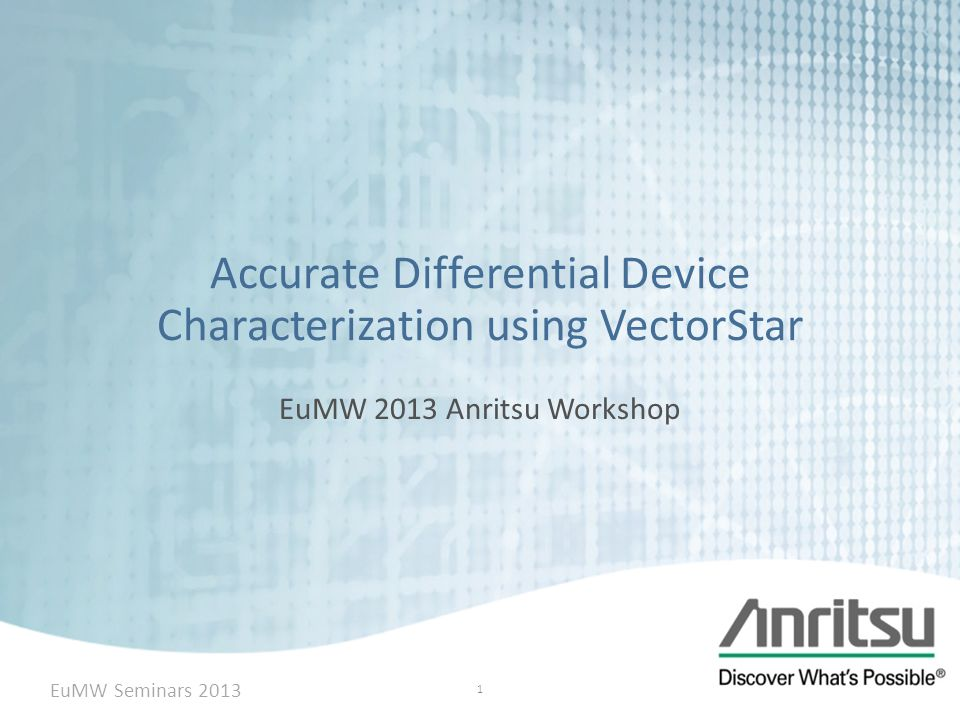 Accurate Differential Device Characterization using VectorStar