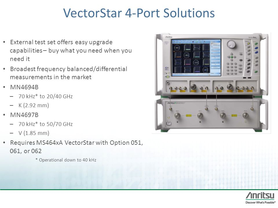 VectorStar 4-Port Solutions