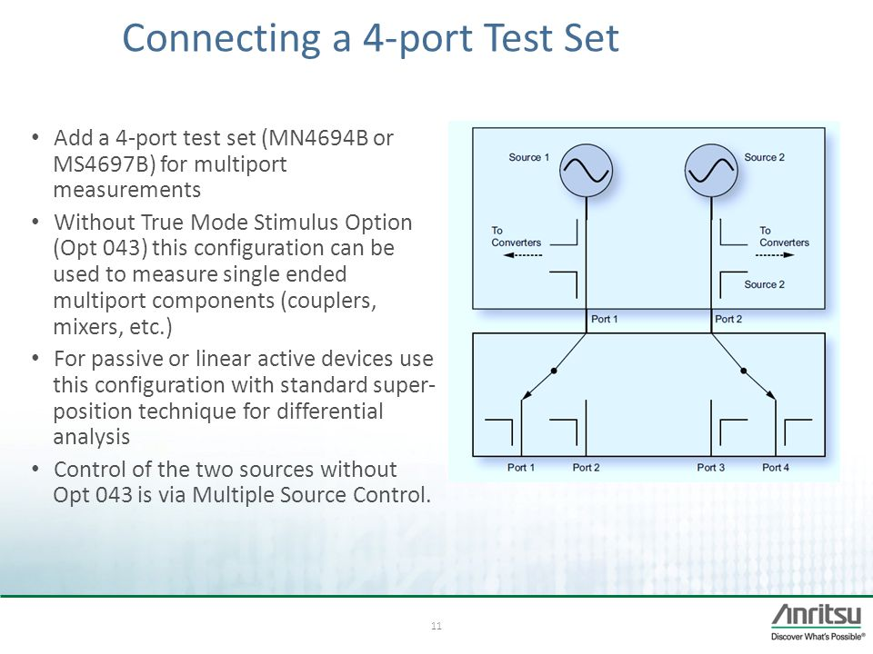 Connecting a 4-port Test Set