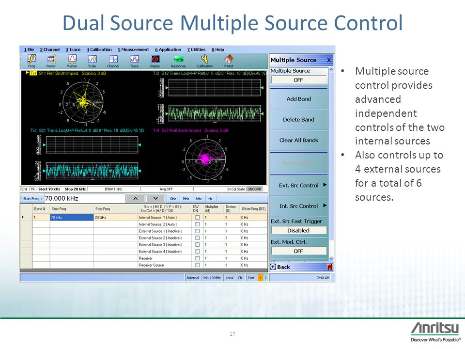Dual Source Multiple Source Control