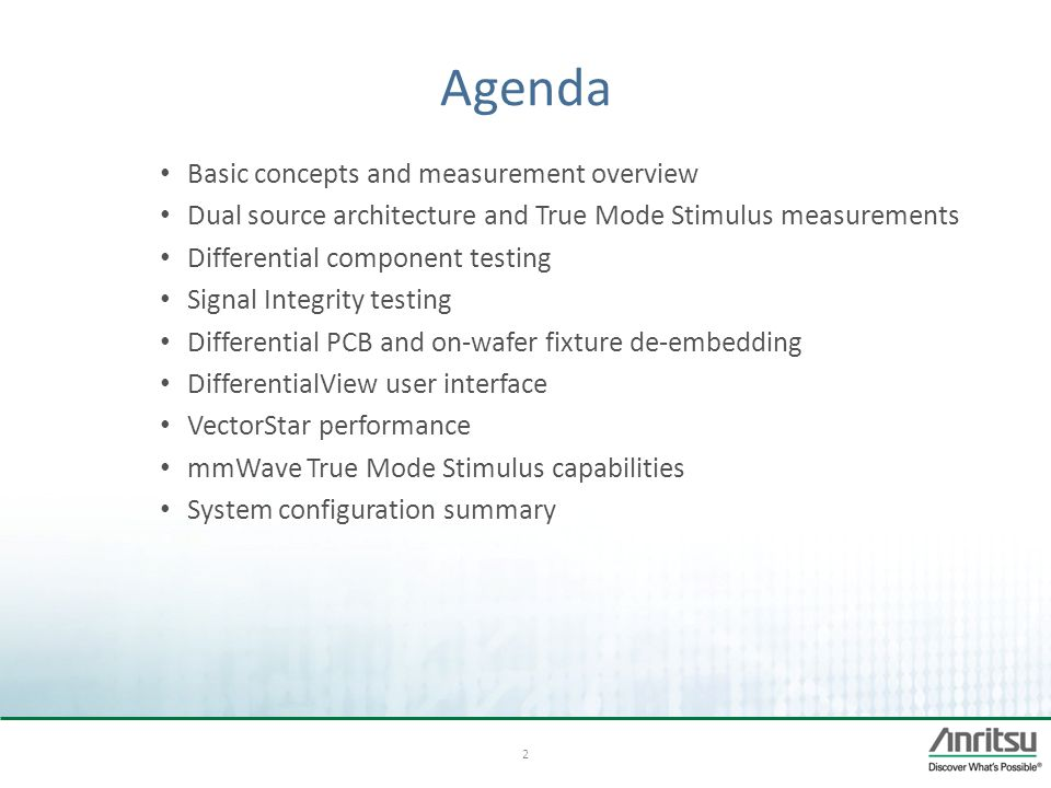 Agenda Basic concepts and measurement overview