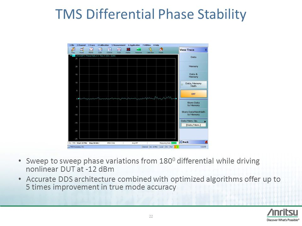 TMS Differential Phase Stability