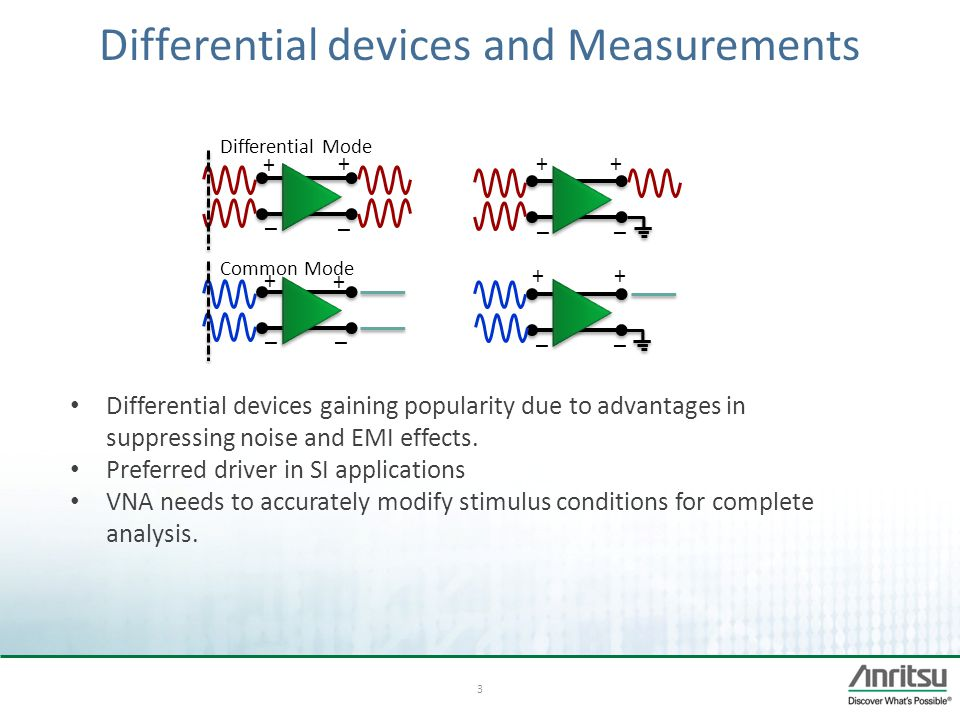 Differential devices and Measurements