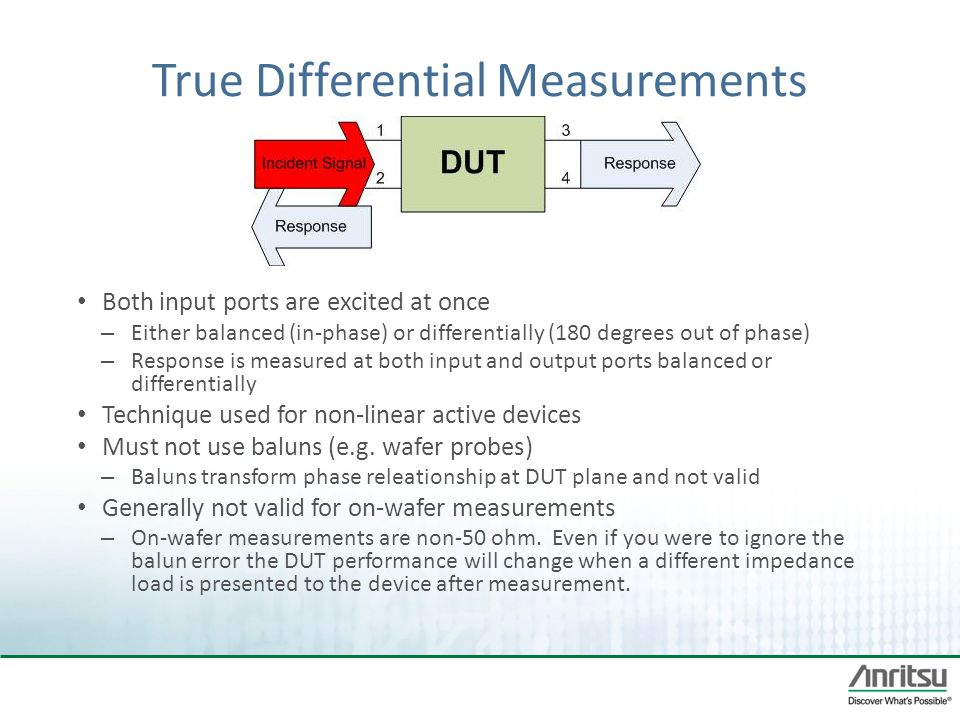 True Differential Measurements