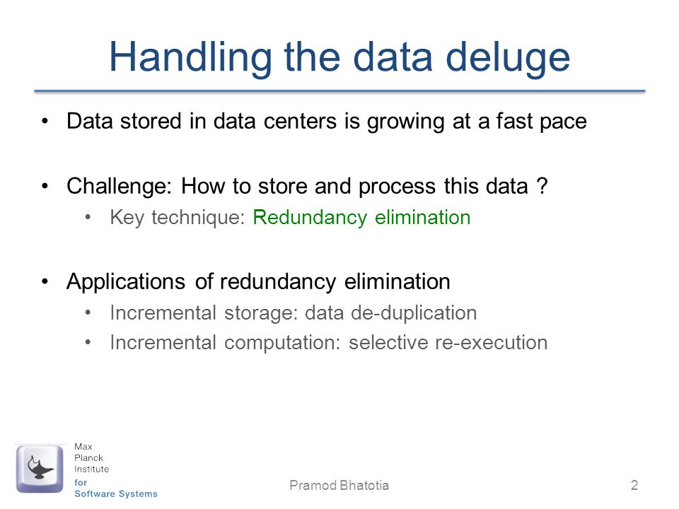 Handling the data deluge