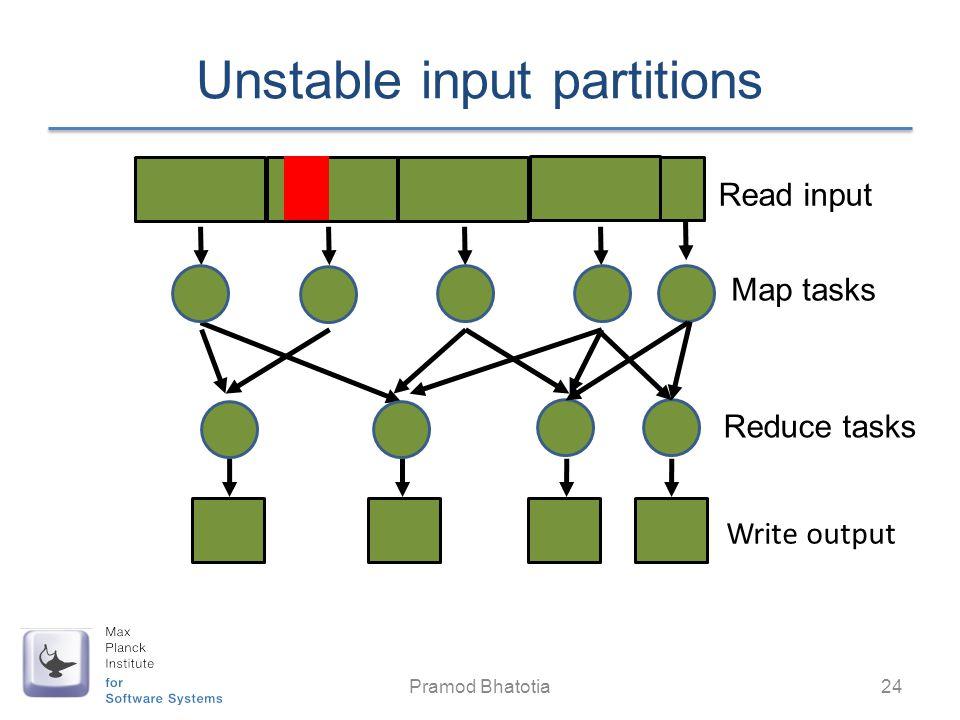 Unstable input partitions