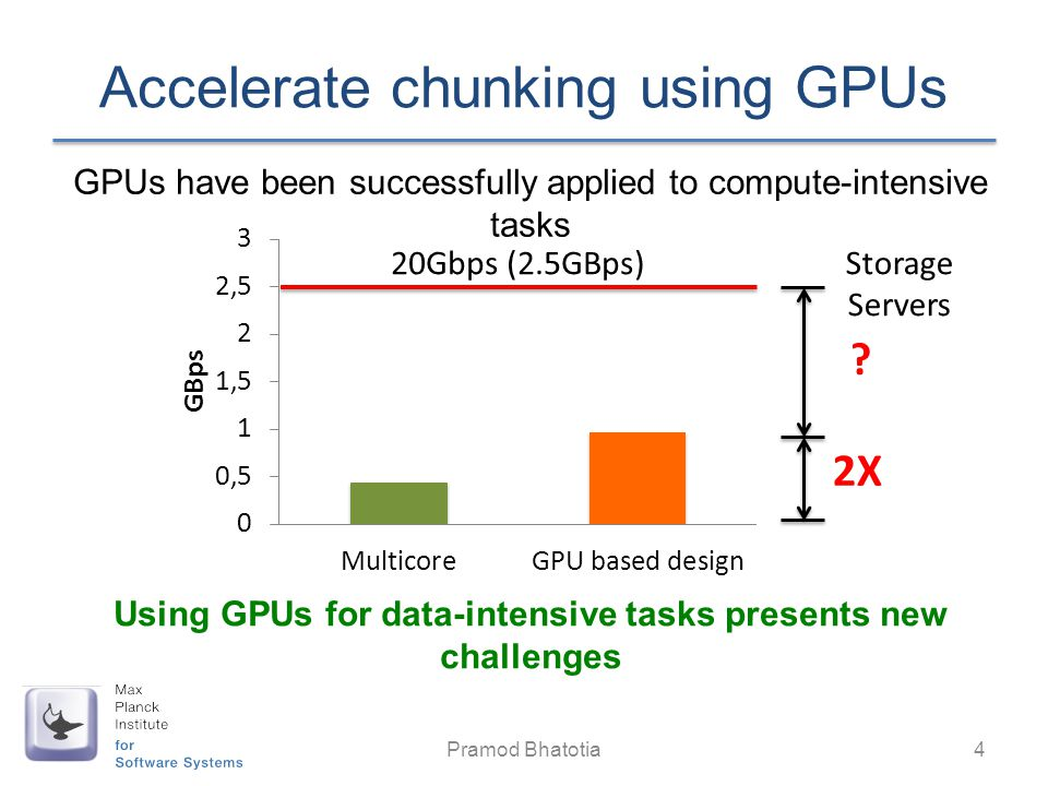 Accelerate chunking using GPUs
