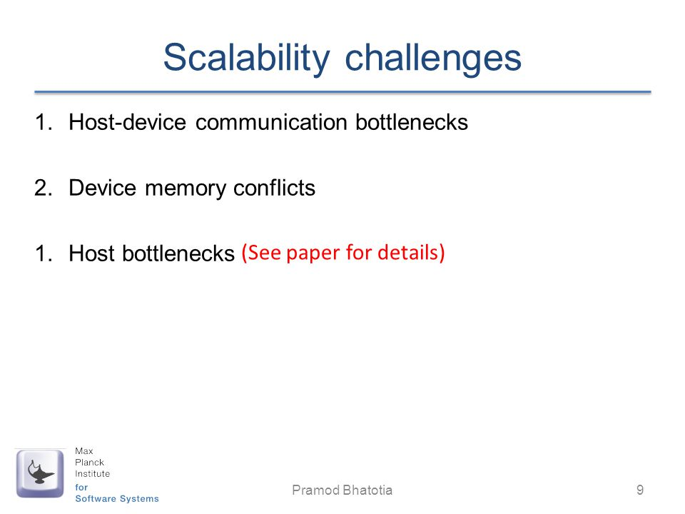 Scalability challenges