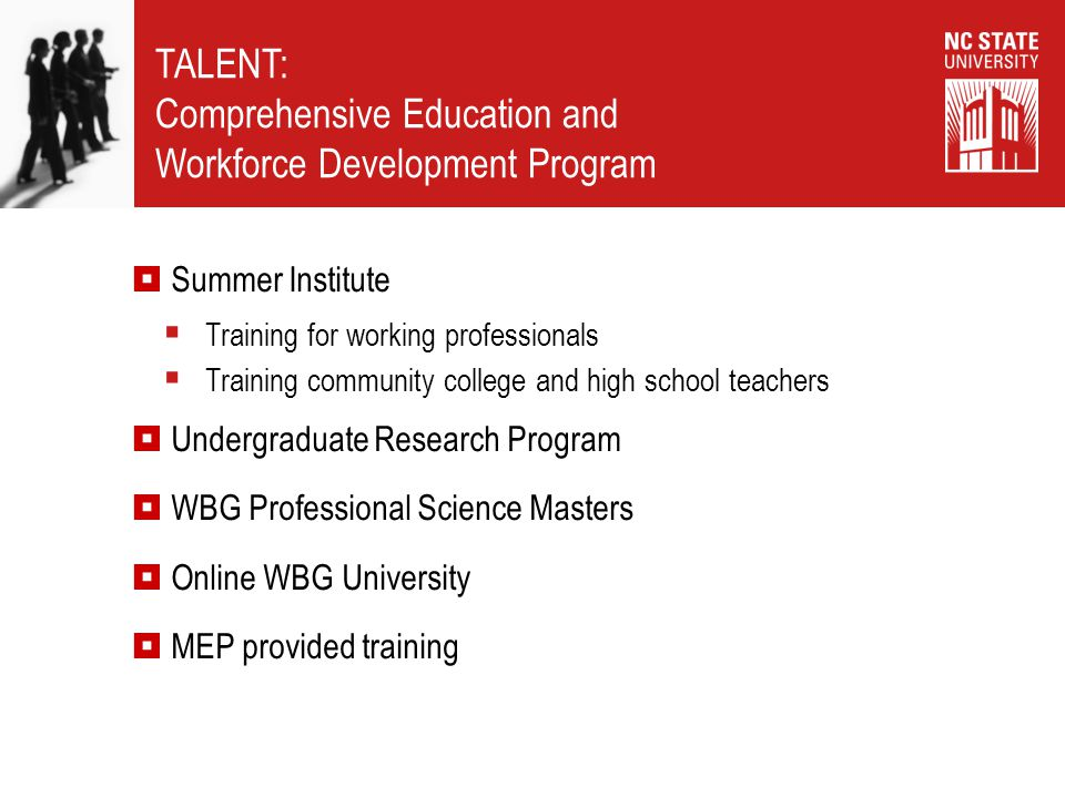 Comprehensive Education and Workforce Development Program