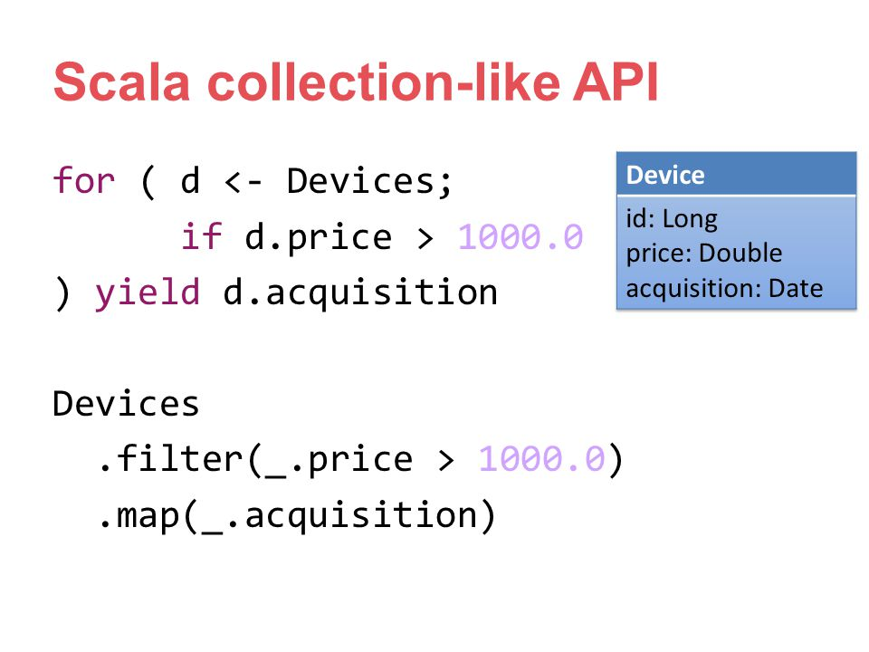 Scala collection-like API