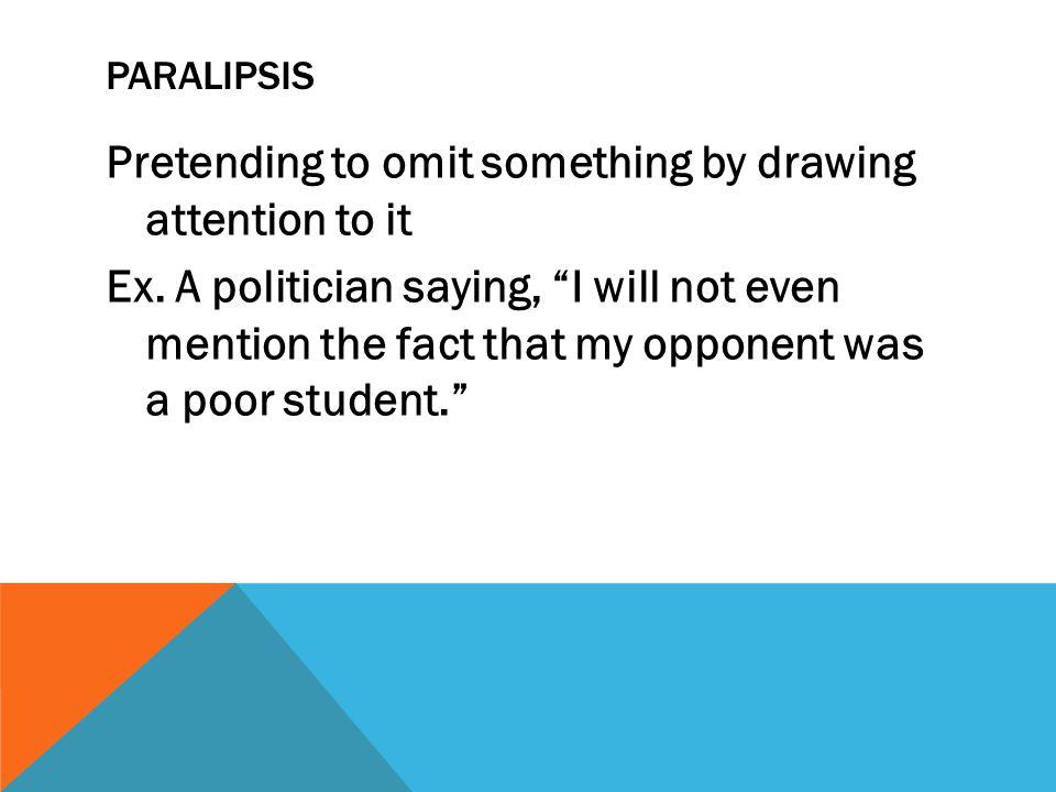 Paralipsis