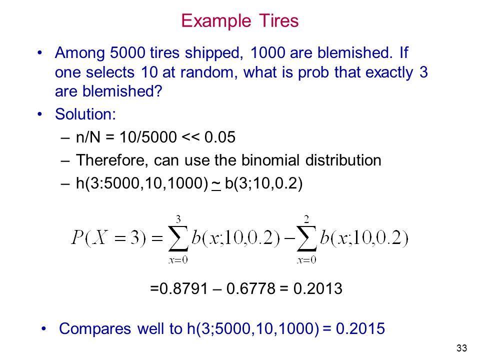 IMSE 213 Prob&Statistics Example Tires. 4/1/2017.