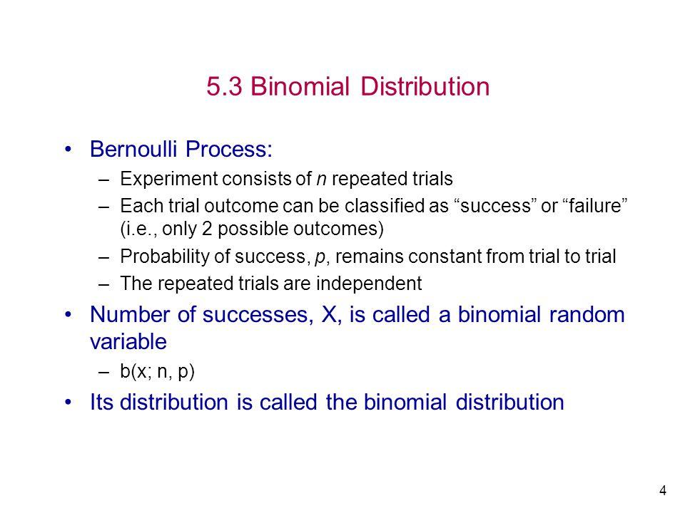 5.3 Binomial Distribution