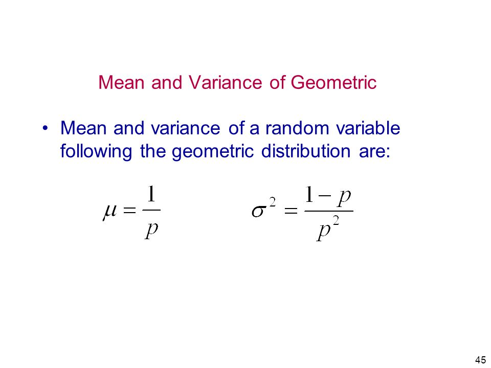 Mean and Variance of Geometric