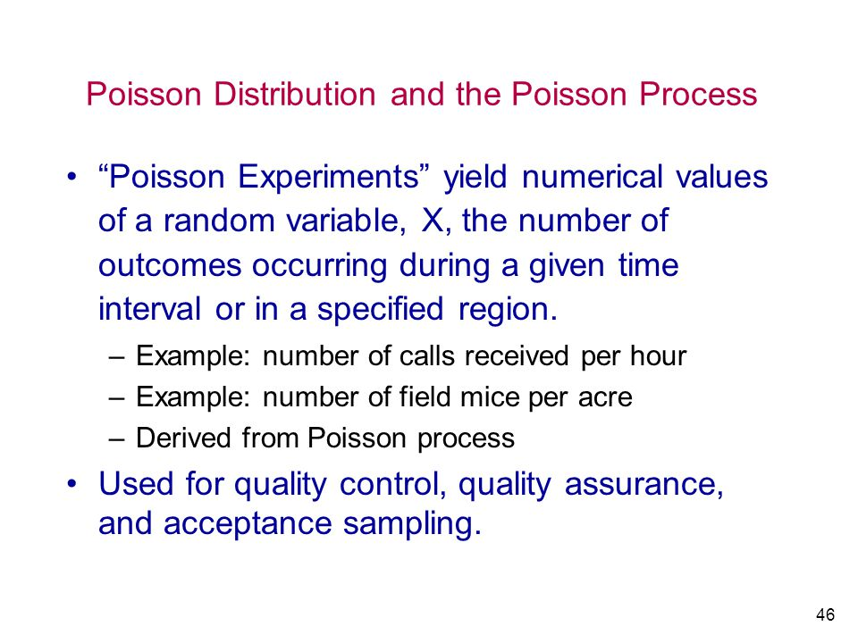 Poisson Distribution and the Poisson Process