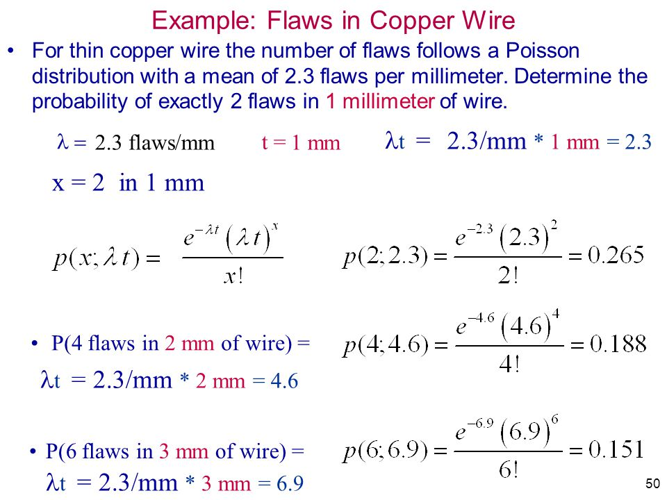 Example: Flaws in Copper Wire