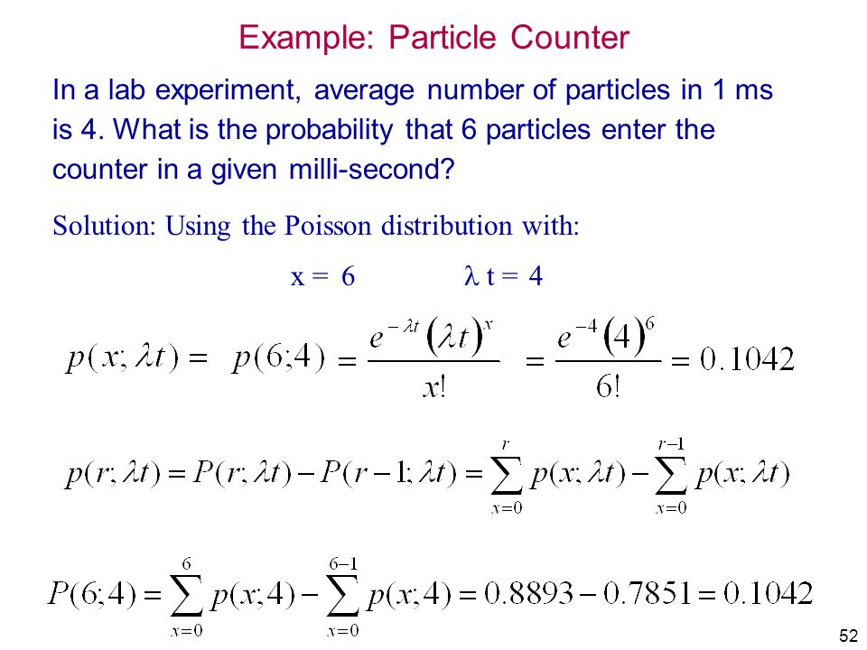 Example: Particle Counter