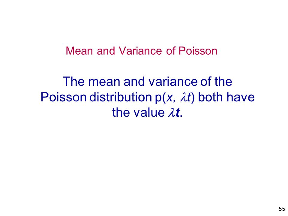 Mean and Variance of Poisson