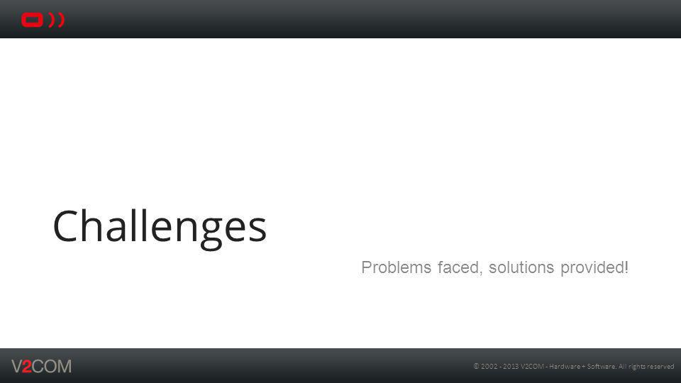 Challenges Problems faced, solutions provided!