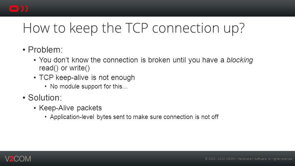 How to keep the TCP connection up