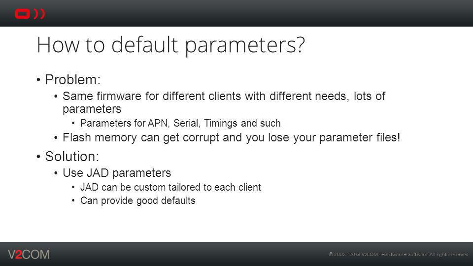 How to default parameters