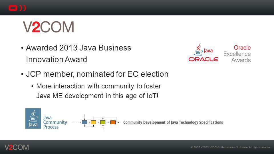 Awarded 2013 Java Business Innovation Award