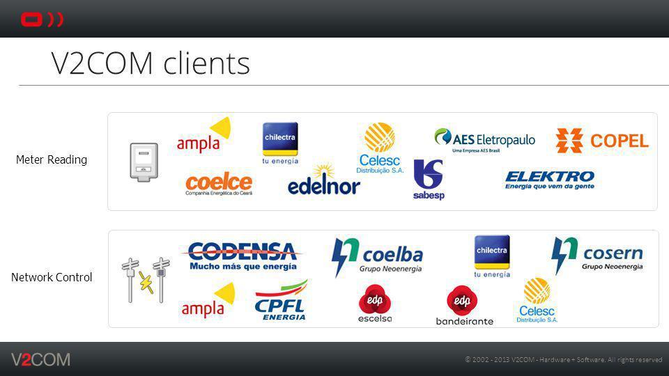 V2COM clients Meter Reading Network Control