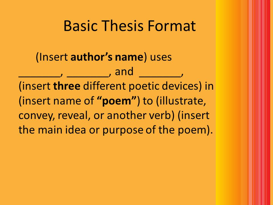 thesis statement about a poet Get some advice on how to write a great thesis statement proofreading services | thomas carew, a contemporary of the poet john donne.