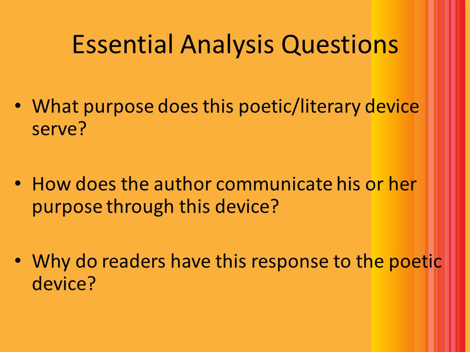 Essential Analysis Questions