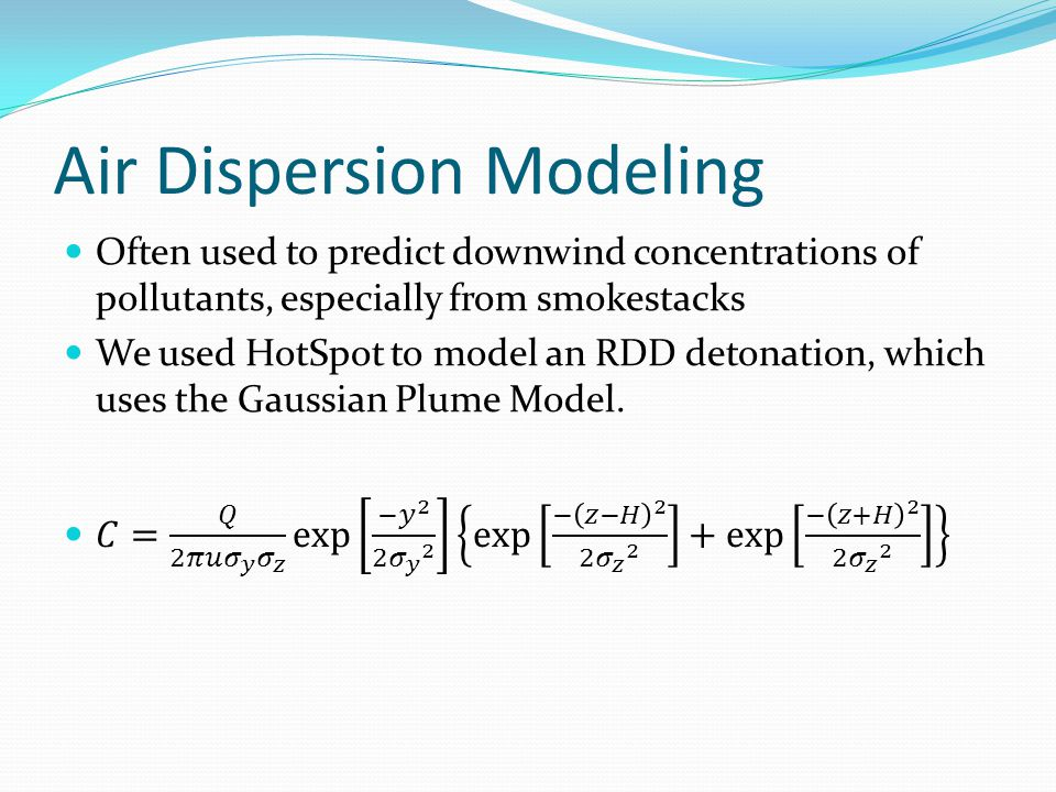 Air Dispersion Modeling