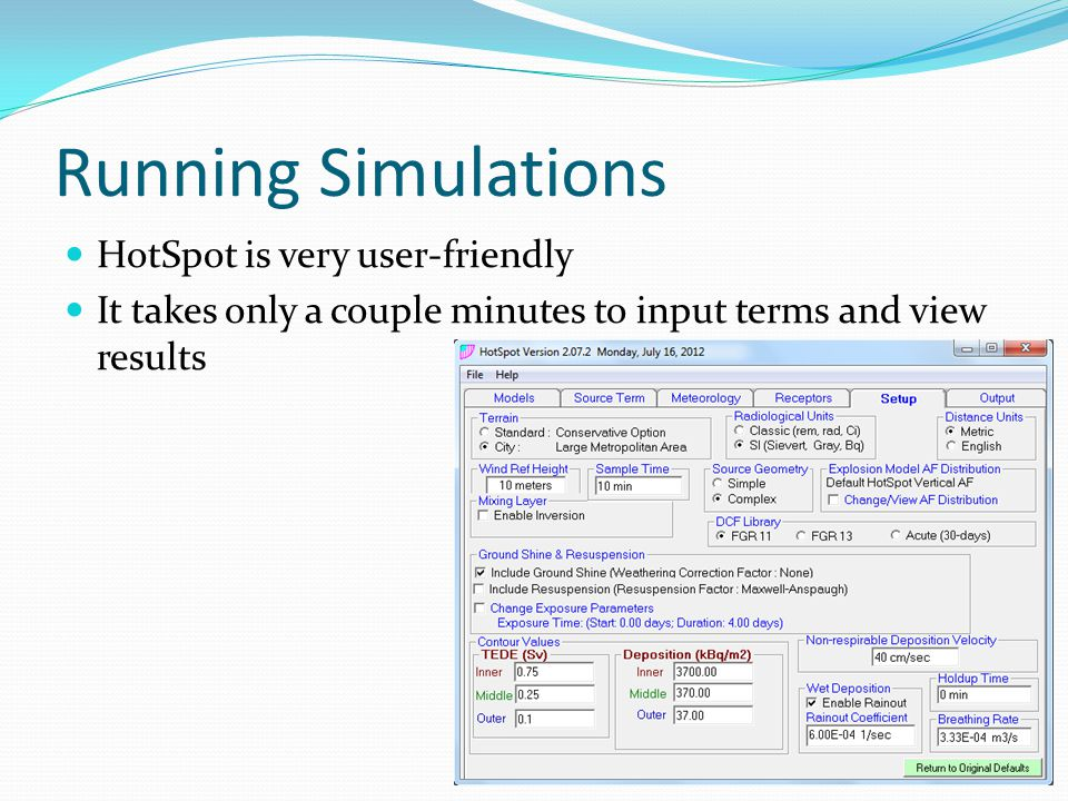 Running Simulations HotSpot is very user-friendly