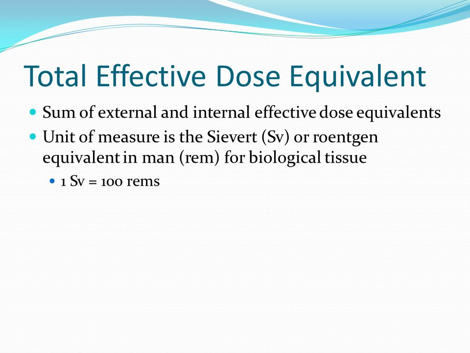 Total Effective Dose Equivalent