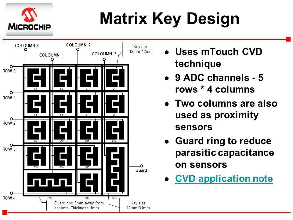 Matrix Key Design Uses mTouch CVD technique