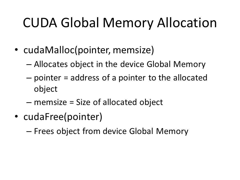 CUDA Global Memory Allocation